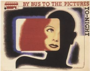 Vintage London Bus poster - By bus to the pictures